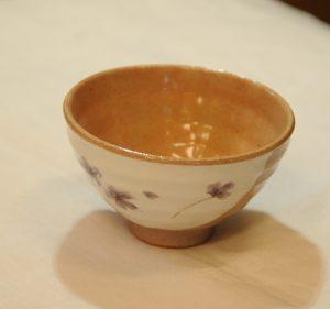 小花飯椀(紫・内)