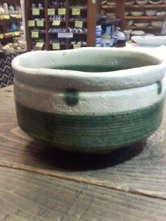 織部焼の茶碗
