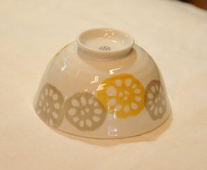 レンコン飯碗(黄)