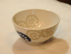 レンコン飯碗(青)