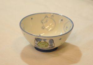 水玉カエル飯碗