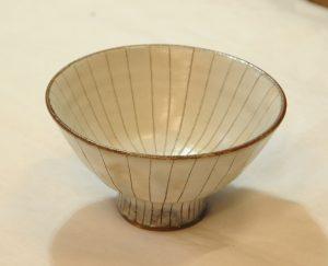 彫十草飯碗(内)