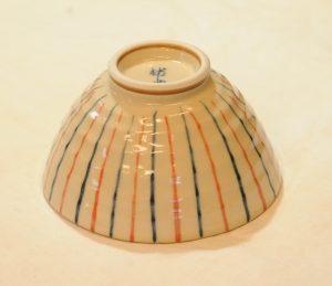 古代十草飯碗(赤・底)