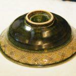 黄瀬戸ライン鉢(底)