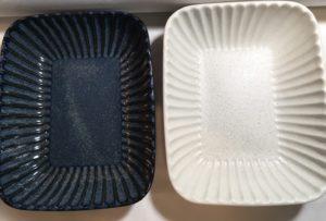 トチリ長角鉢(白・ゴス)